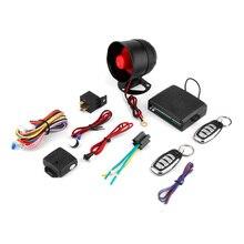 NUEVA Universal 1-Way Sistema Del Vehículo de Alarma de Coche Sistema de Seguridad Protección Keyless Entry Siren + 2 Control Remoto Antirrobo venta caliente