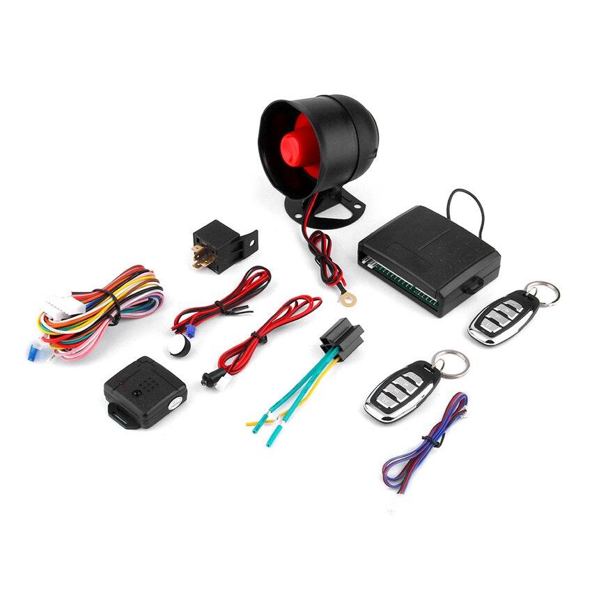 imágenes para NUEVA Universal 1-Way Sistema Del Vehículo de Alarma de Coche Sistema de Seguridad Protección Keyless Entry Siren + 2 Control Remoto Antirrobo venta caliente