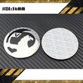 4 pçs/lote D = 56 MM 60 MM cubo de roda do automóvel tampas de centro caps etiquetas com VAUXHALL marcas de carro logotipo do emblema do emblema