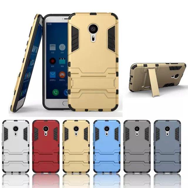 Soporte a prueba de golpes cubierta cajas del teléfono duro para meizu mx5 case