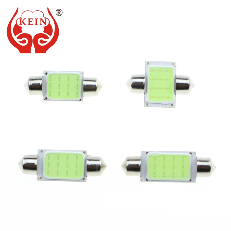 KEIN 1PCS festoon led 31MM 36MM 39MM 41MM COB C3W C5W C10W Interior/reading/Dome/License Plate Lamp Bulb Lights Auto car led 12V 10pcs lot led car light source c5w festoon 31 36 39 41mm auto interior bulb reading dome license plate lamp 12v white color