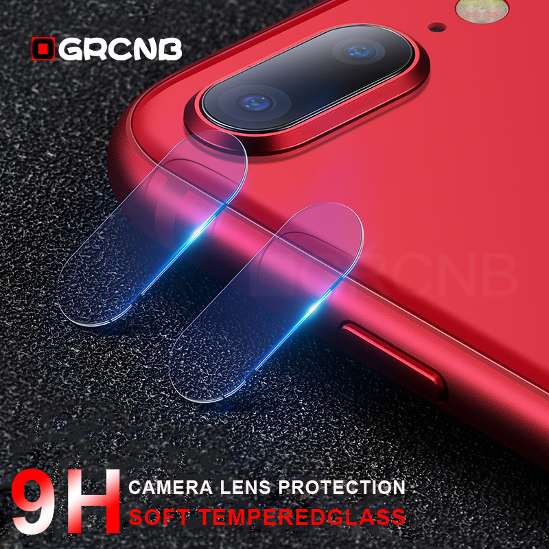 OGRCNB Camera lens Tempered Glass Protective For iPhone 7 8 X HD Clear Anti-Scratch Glass For iPhone 7 8 Plus Full Cover Lens