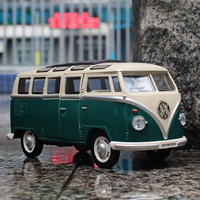 MZ 1 24 Alloy Car Model Volkswagen Bus Retro Style Sound And Light Back To Children
