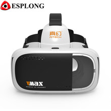 RITECH VMAX Virtual Reality Box VR Glasses 3D Gafas VR Helmet Cardboard for iPhone 6s 7 xiaomi Samsung 4.7-6 inches Smartphone(China)