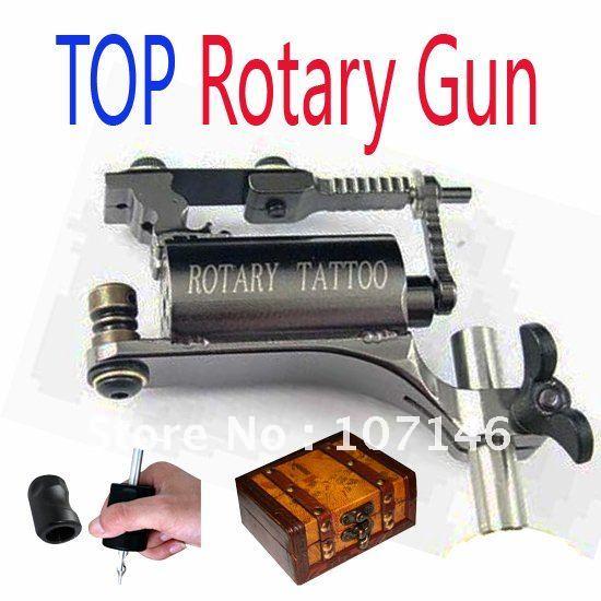 Pro tattoo rotary machine gun with silica gel grip jacket for Tattoo kit rotary