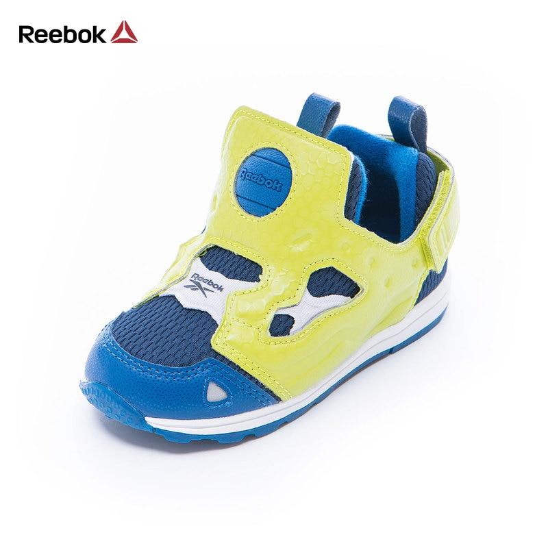 Reebok Элитный бренд дети детские спортивные Кроссовки Versa pump Fury SYN мальчик Повседневное Walker Спортивная обувь слипоны Малыш обувь