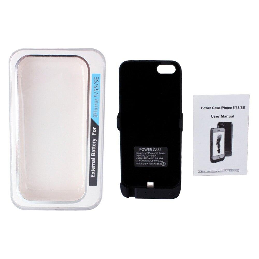 5944a4f205a ᐊGoldfox batería recargable externa caso cargador para iPhone 5 5s ...