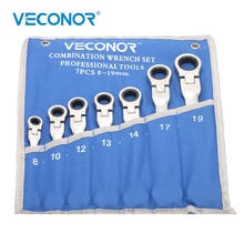 8 19mm cırcır anahtarı seti araçları 72 diş kilitleme somun anahtarları Multitools Flex kafa mat veya ayna cilası roll up kese