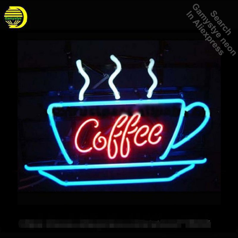 Coffee Neon Sign Display Cafe Neon Bulbs Real Glass Tube Handcrafted Real Recreation Gar ...
