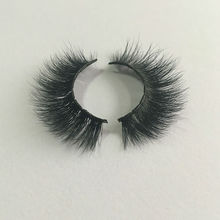 1pair 100% Real Siberian 3D Mink eyelashes Full Strip False Eyelash Individual Mink Lashes Extension Cosmetic