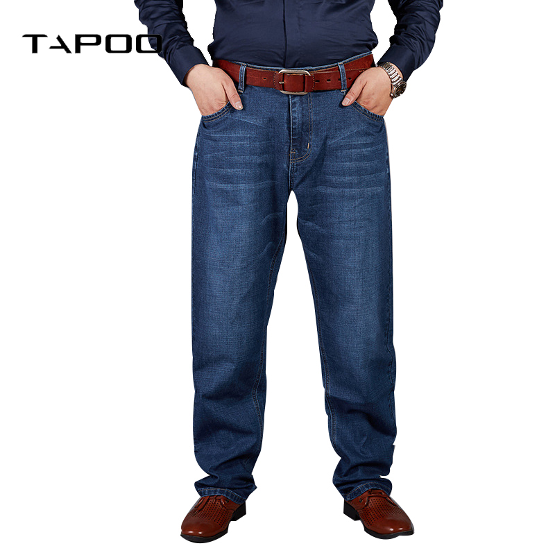 New Fashion Man Casual 2019 Designer Jeans Men High Quality Business Zipper Elastic Loose Men's Trousers Soft Plus Size 30-48