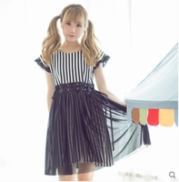 Princess sweet lolita dress [Dolly Delly] original Harajuku dark wind pumping with two sets of striped dress female Dolley 0078