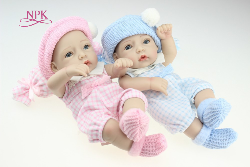 NPK DOLL Mini 12 Inch Soft Fully Body Silicone Reborn Dolls Sleeping Newborn Babies Bebe Reborn Realista Doll For Gift Bath Toys npk bebe gift realista reborn dolls 23 inch 57cm full silicone body reborn babies boy dolls children new year gift bath toys bon