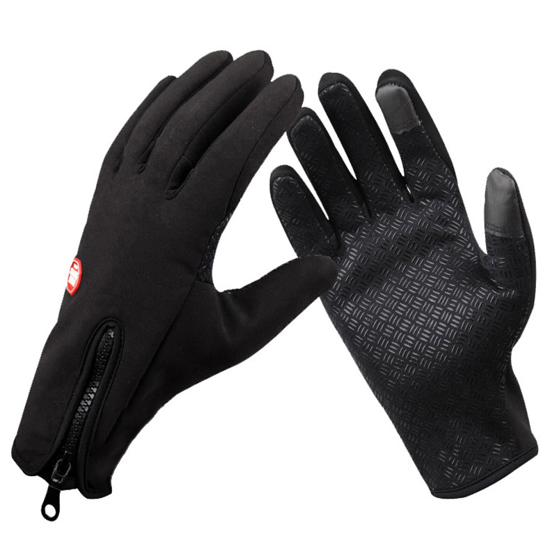 Touch Screen Cycling Gloves MTB Bicycle Outdoor Waterproof Bike Sports Windstopper Fitness Full Finger Breathable Gym Windproof