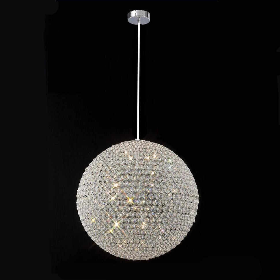 Modern round ball Iron Chandelier diameter 15CM E27 led lamps simple crystal Chandeliers led lustre chandelier lighting