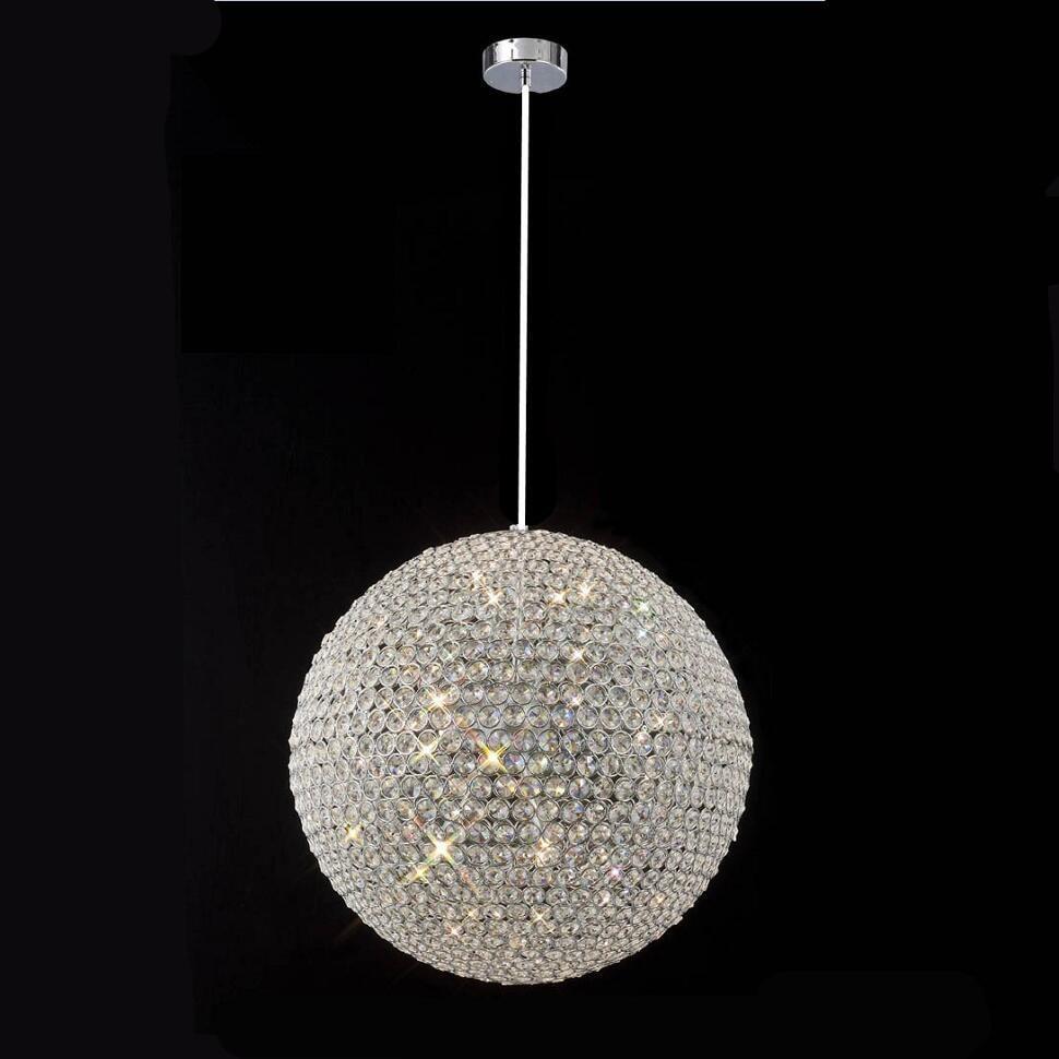 Modern round ball Iron Chandelier diameter 15CM E27 led lamps simple crystal Chandeliers led lustre chandelier lighting
