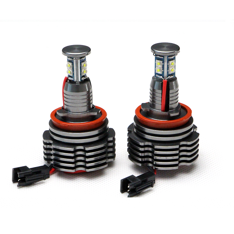 40W  LED Angel Eyes H8 Marker Upgraded Bulbs 12V Xenon White for BMW 1 3 5 7 X Z Series E90 E91 E92 E93 E60 E61 E63 E64 E70