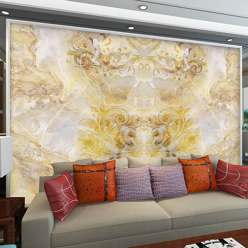 Custom Any Size Mural Wallpaper White Classic European Style Printed 3D Stereo Living Room TV Background Wall Murals Wallpaper european 3d wallpaper moroccan style wall stickers waterproof kitchen toilet decoration classical pattern living room murals