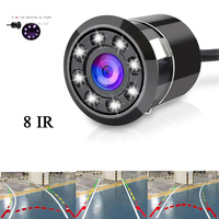 Waterproof 8 IR Night Vision Car Reverse Camera Reversing Trajectory System Super HD For All Car