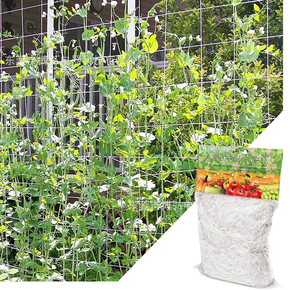 Plant Trellis Netting Heavy-Duty Polyester Plant Support Vine Climbing Hydroponics Garden Net Plant Climbing Polyester Mesh