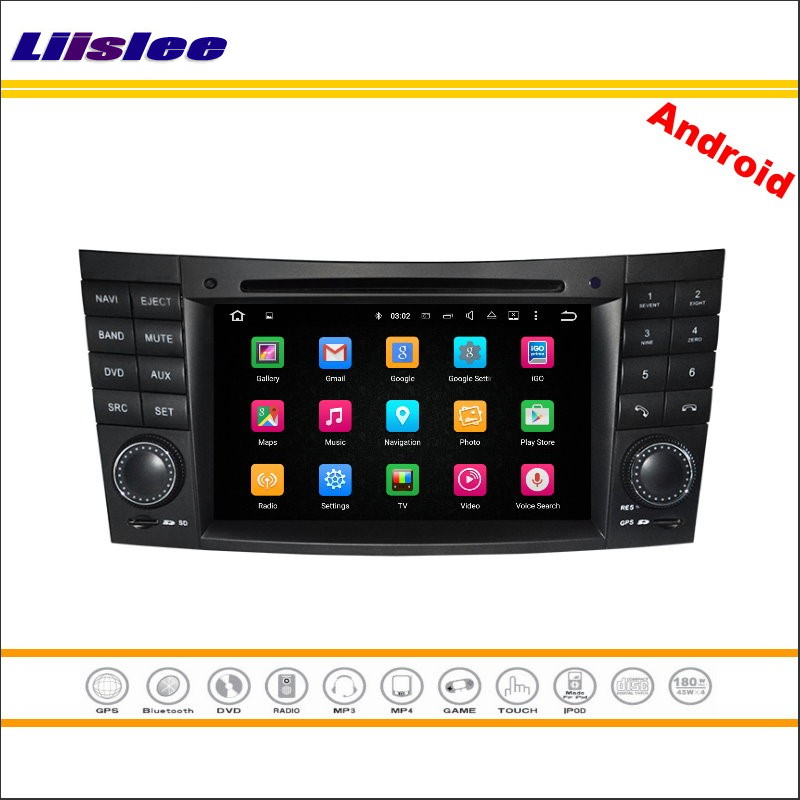 Liislee Car Android Multimedia For Mercedes Benz E W211 / CLS W219 / <font><b>CLK</b></font> <font><b>W209</b></font> 2002~2011 <font><b>Radio</b></font> DVD Player GPS Navigation System image