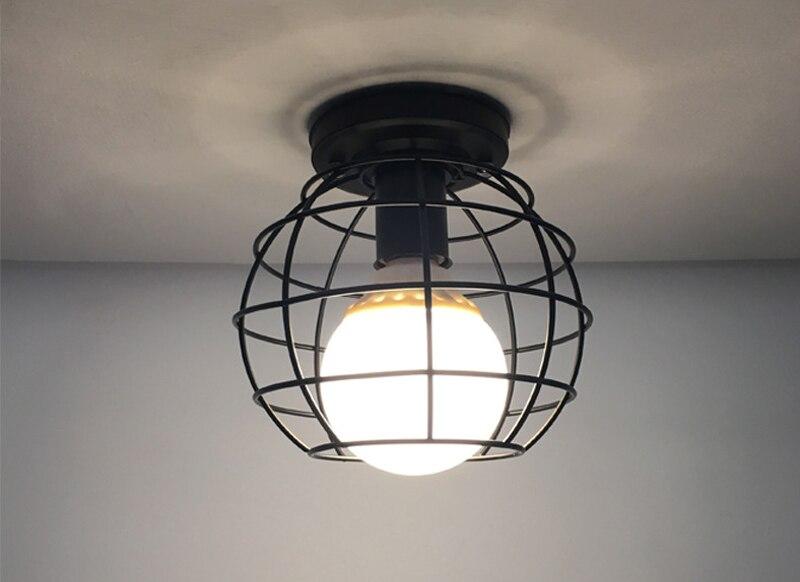 HTB1VhO9srZnBKNjSZFGq6zt3FXah Vintage Ceiling Lamp For Living Room Bedroom Nordic Wrought Iron Retro Corridor Aisle For Living Room Bar Ceiling Light