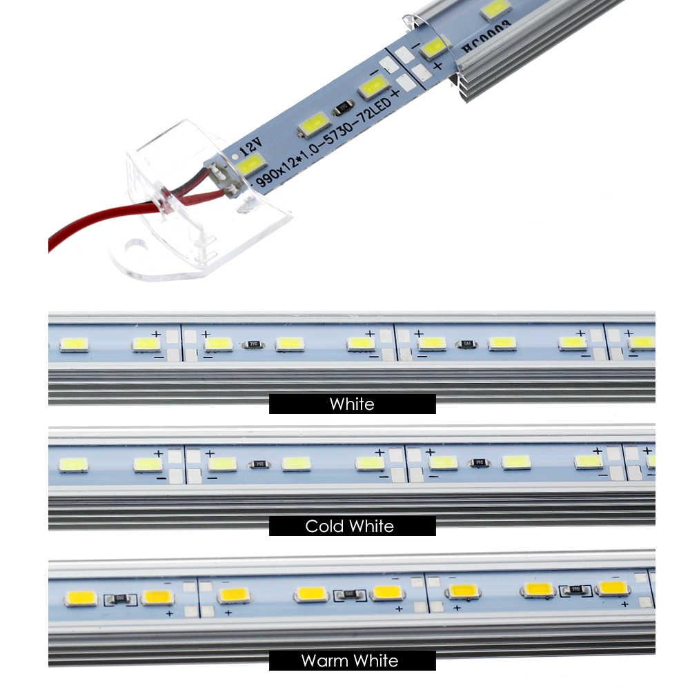 5 шт./лот светодиодный свет бар огни DC12V 5730 светодиодный жесткой полосы 50 см светодиодный трубки с U алюминиевый корпус + PC чехол