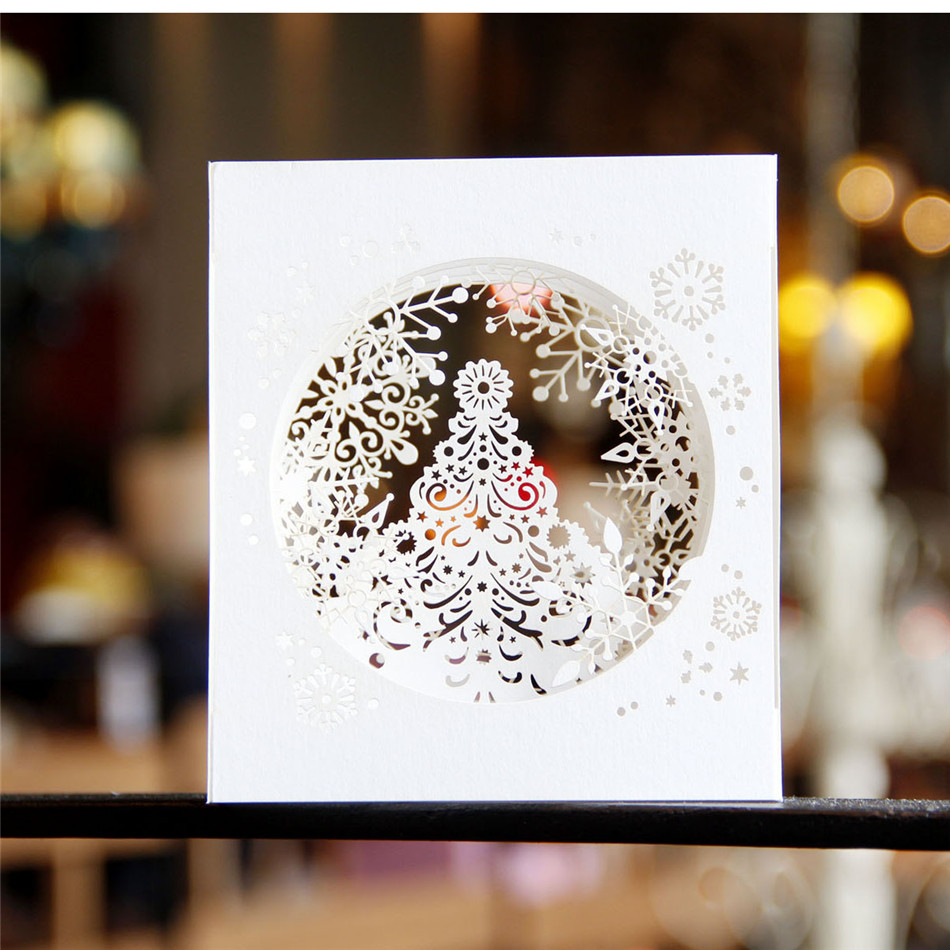 Business Merry Christmas Cards Elegant Embossed Christmas Cards