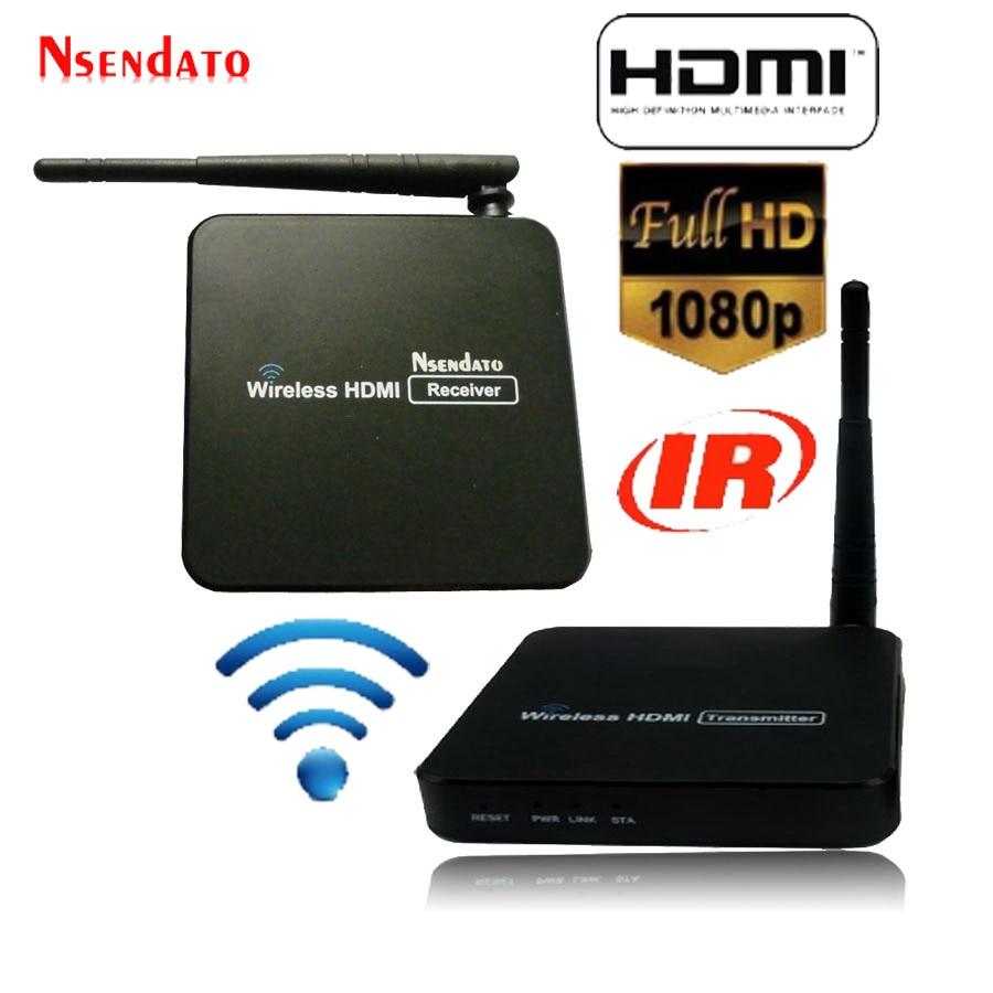 Nsendato 1080P HDMI H.264 Wireless Extender with IR remote 5.8GHz WIFI HDMI Video Transmitter Sender Receivers Up to 100m nsendato 1080p hdmi h 264 wireless extender with ir remote 5 8ghz wifi hdmi video transmitter sender receivers up to 100m