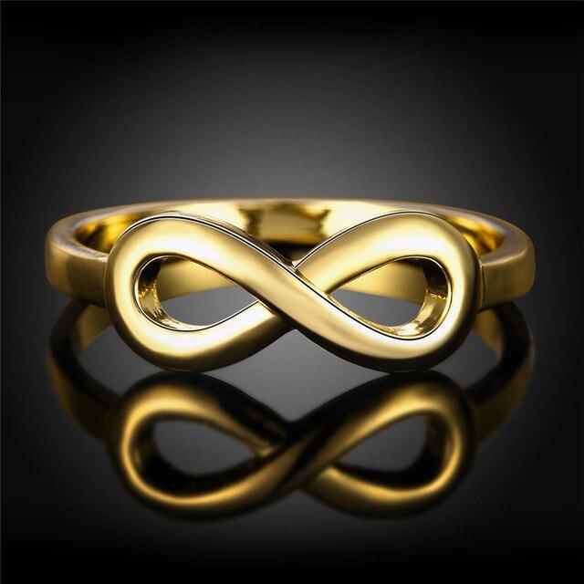 Online Shop Gold Color Infinity Rings Best Sister Best Friend