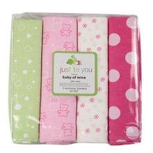 4 pcs/lot nouveau-né bébé drap de lit literie 76×76 cm ensemble pour nouveau-né super doux lit pas cher linge lit garçon fille 100% coton couverture