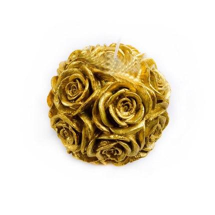 Moule en Silicone 3D grande boule de rose moules à chocolat gel de silice fleur bougie moule à la main savon moule résine argile arôme pierre moules - 3