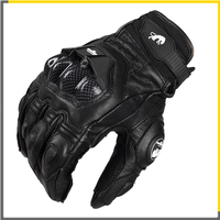 Furygan AFS 6 Motorcycle Gloves Men's Leather Full Finger Black Bicycle Cycling Motorbike Guantes Moto Luvas