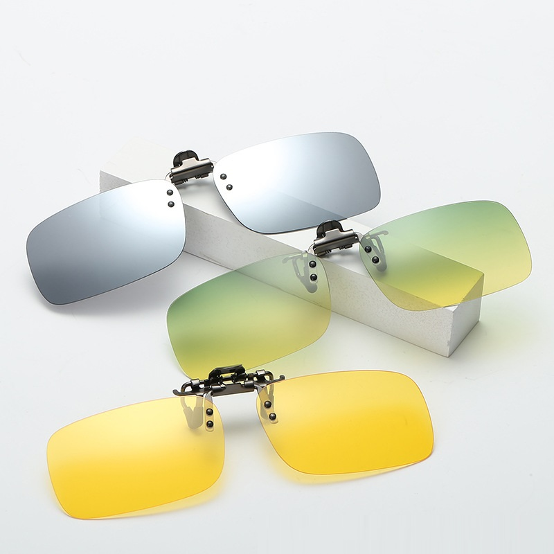 9f221dfb92 Vazrobe Day Night Driving Clip on Sunglasses Lens Polarized Men Women Fit  Over Glasses Frame Anti