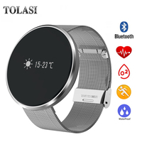 TOLASI Bluetooth Sport Running Smart Watch IP67 Waterroof Smart Bracelet Wristband Blood Oxygen Calorie Calculation Smartband