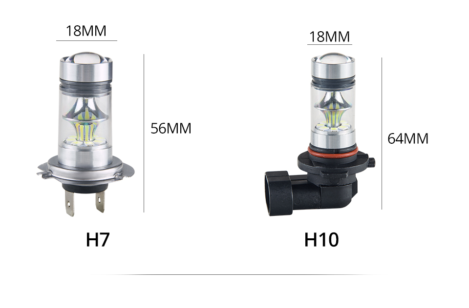 Aceersun Led H8 H11 H10 Fog light bulb 9006 HB3 9005 ATV H1 H3 1200LM 6500K 12V 24V Car Driving Daytime Running Lamp motorcycle (9)