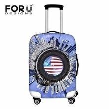 FORUDESIGNS, органайзер, флаг США, чехол для багажа для путешествий, водонепроницаемый, 18-30 дюймов, чехол для чемодана для путешествий, эластичный, защита от пыли