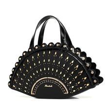The peacock pattern shape shoulder diagonal cross bag handbag fashion creative personality cute funny flower bag
