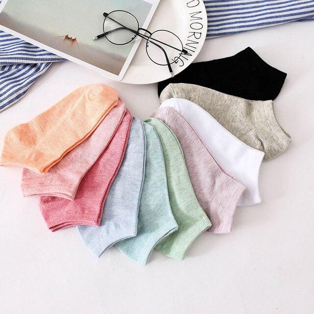 Candy Colors Cotton Women Socks Snowflake Softable Woman Socks Pink Cute Socks