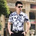 Plus Size 6XL 7XL Homens Camisas Florais Baratos de Manga Curta Casuais camisas 5XL Tamanho Grande Luxo Top Quality China Importou Roupas Masculinas