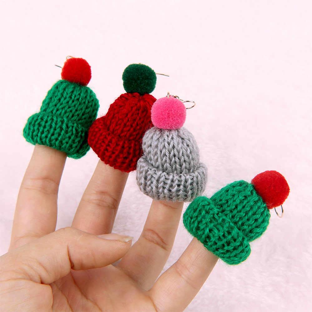 Versi Korea dari Musim Gugur Musim Dingin Yang Indah Topi Rajutan Wol Anting-Anting Temperamen Lama Fluffy Bola Anting-Anting Wanita Hadiah