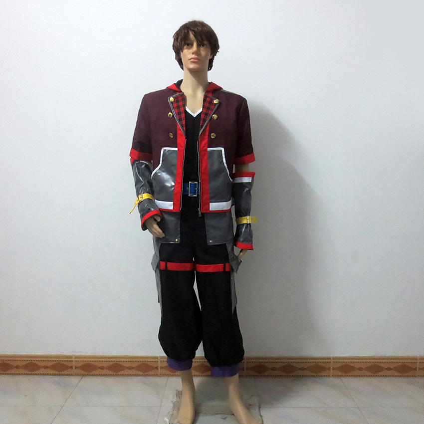Kingdom Hearts III Protagonist Sora Christmas Party Halloween Uniform Outfit Cosplay Costume Customize Any Size