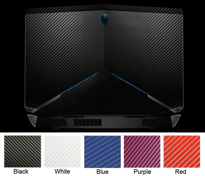 KH 노트북 탄소 섬유 악어 가죽 스티커 스킨 커버 보호기 에이리언웨어 17 M17X는 R5 ANW17 17.3