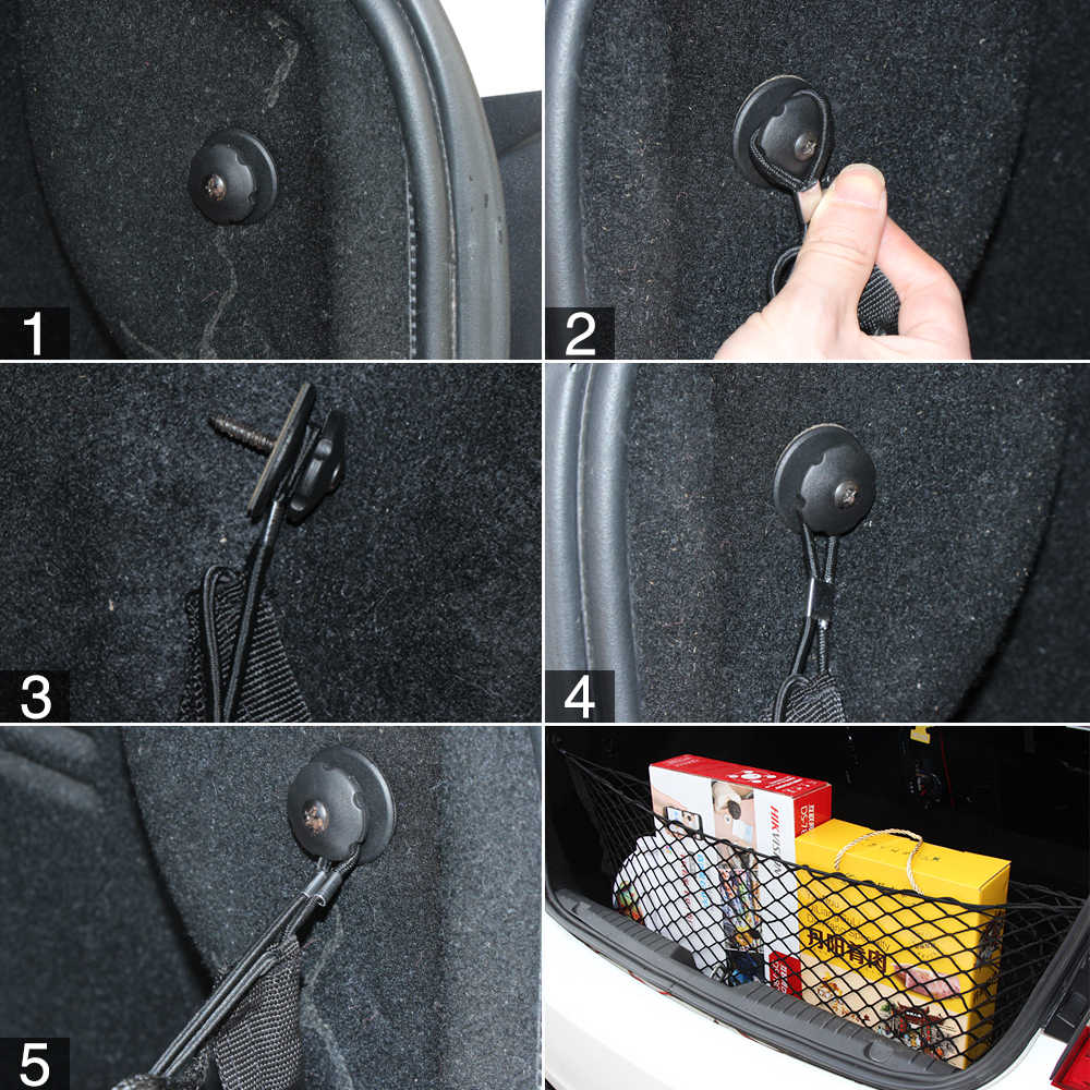 4 шт. Монтажная точка авто задний грузовой багажник Органайзер багажная сетка аппаратный крюк