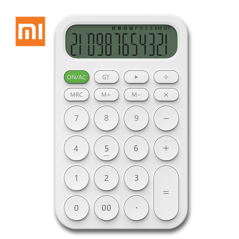 Xiaomi MIIIW 12 Digit Electronic Calculator Simple Design Mini LED Display Calculation Tool Office Working Student Stationery