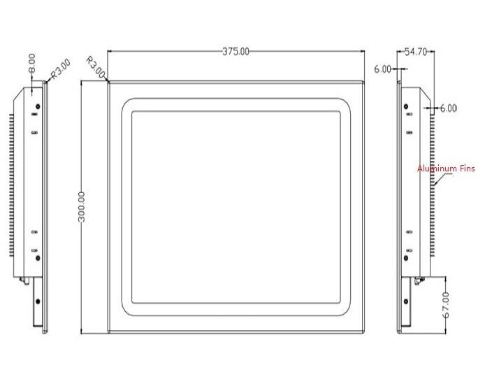 15-tommers sollys-lesbar industripanel, Core i3-3217U CPU, 4 GB RAM, - Industrielle datamaskiner og tilbehør - Bilde 3