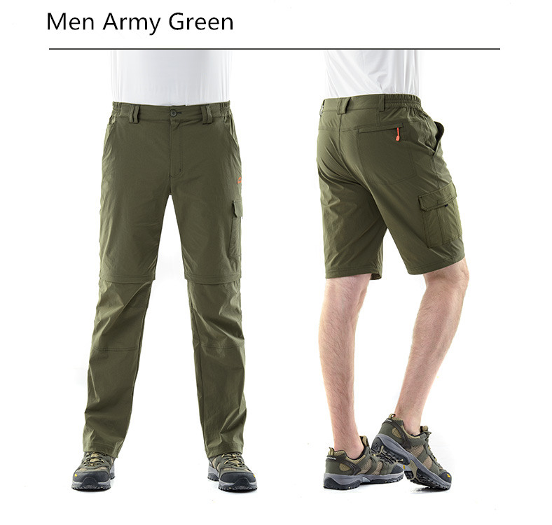 ФОТО High Quality  Women and Men Quick Dry  Comfortable Pants Two Use  Breathable UltraLight   Pants  Summer  Hiking  Sporting pant