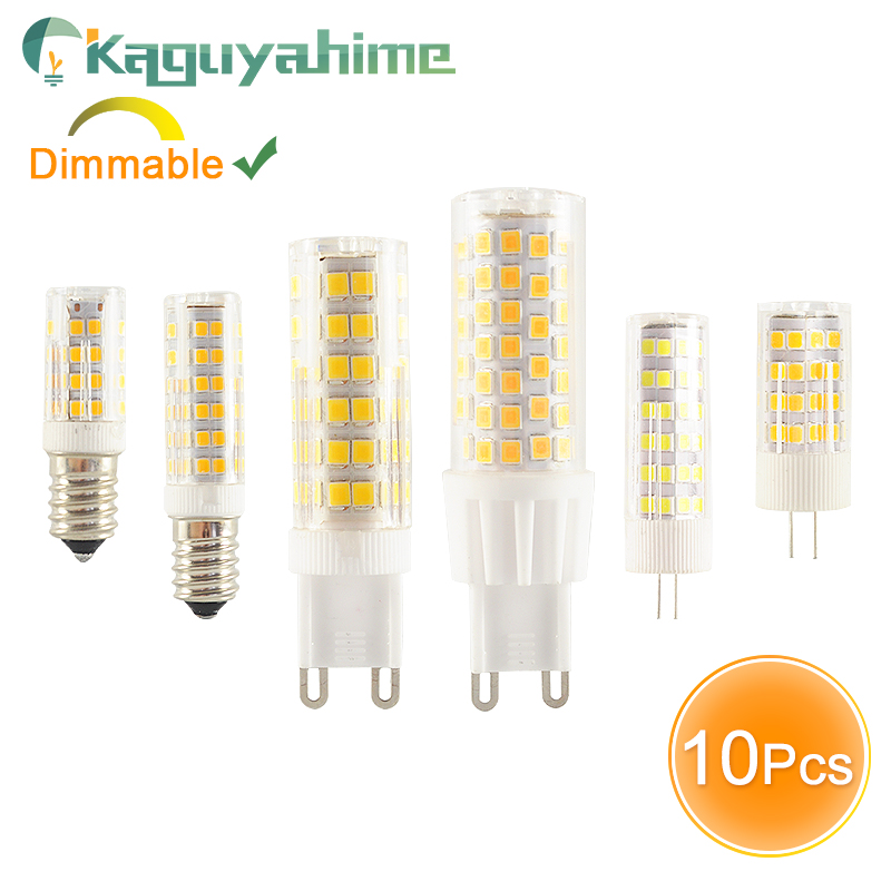Kaguyahime 10PCS/LOT LED G9 E14 G4 Lamp Dimmable Bulb 3w 5w 7w 9w DC 12V AC 220V Bulb G9 LED G4 COB Lamp Spotlight Chandelier