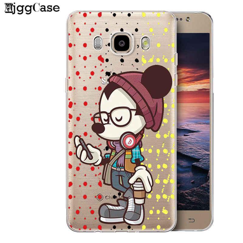 Минни Микки телефон крышка для Coque Samsung Galaxy S6 S7 край S8 S9 плюс J3 J4 J6 J5 J7 A5 2017 A6 A8 плюс 2018 Примечание 8 9 чехол