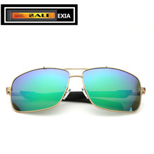Inexperienced Mirror Coatings Flash Coloration Sun shades for Males Eyewear Design Customized Myopia Lenses EXIA OPTICAL KD-0728 Sequence